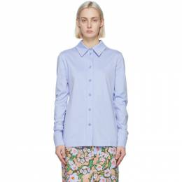 Sportmax Blue Jersey Alibi Shirt 29510217600 MM13082