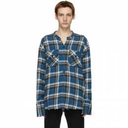 Greg Lauren Blue Plaid Classic Studio Shirt AM046