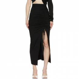 The Attico Black Jersey Slit Skirt 211WCS41 - J011