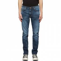 Nudie Jeans Blue Lean Dean Jeans 113555