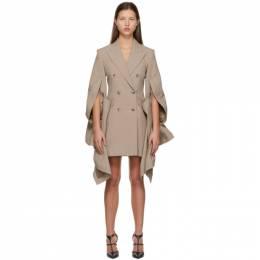 Y / Project Taupe Ruffle Sleeve Blazer Dress WBLAZ14-S20