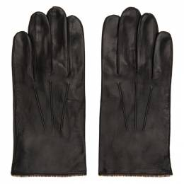 Paul Smith Black Leather Signature Stripe Gloves M1A-028D-AG21-79