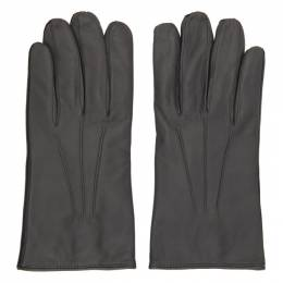 Paul Smith Grey Leather Bicolor Gloves M1A-536F-EG967-76
