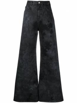 The Attico джинсы широкого кроя с принтом тай-дай 211WCP14D017