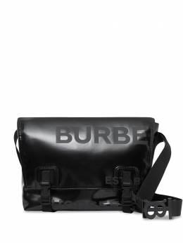 Burberry сумка-мессенджер с принтом и пряжками 8036752