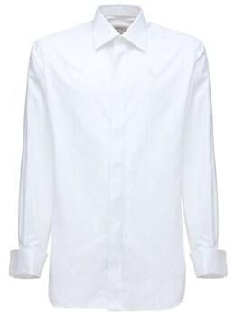 Нарядная Рубашка Из Хлопка Brioni 73IY3B003-OTAwMA2