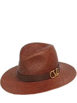 Шляпа Fedora Vlogo Из Соломы Valentino Garavani 73IG6Z012-VzA00