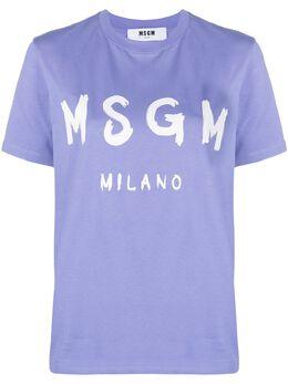 MSGM футболка с логотипом 3041MDM60217298
