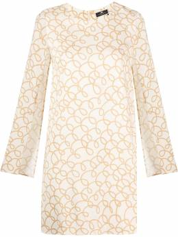 Elisabetta Franchi платье мини с разрезами на рукавах AB04211E2