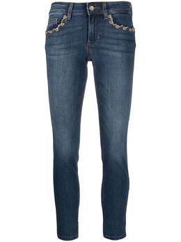 Liu Jo джинсы скинни с цепочкой UA1006D4186