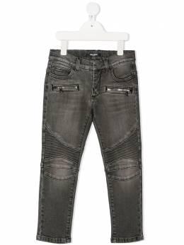 Balmain Kids прямые джинсы со вставками 6M6560MD700