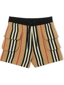 Burberry Kids шорты в полоску Icon Stripe 8036585