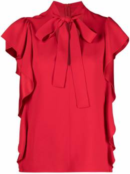 Red Valentino блузка с завязками VR3AEC500F1