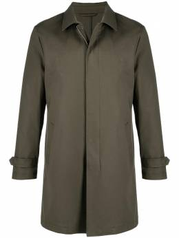 Eleventy pointed-collar single-breasted coat C75SPOC01TES0C193