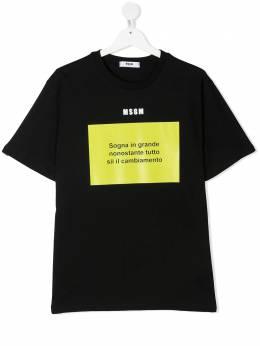 MSGM Kids футболка с графичным принтом MS026833