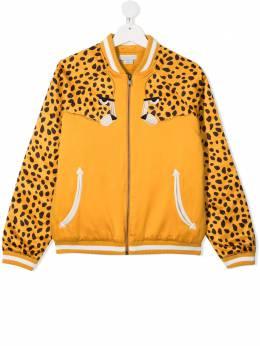 Stella McCartney Kids бомбер с леопардовым принтом 602331SQK22