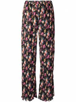 MSGM брюки с цветочным узором и плиссировкой 3041MDP07217150