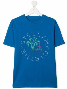 Stella McCartney Kids футболка с круглым вырезом и принтом 602253SQJ74