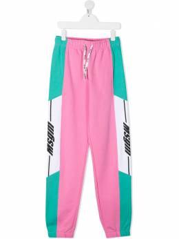 MSGM Kids спортивные брюки в стиле колор-блок MS027071