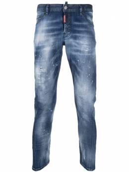 Dsquared2 зауженные брюки с эффектом разбрызганной краски S74LB0938S30342