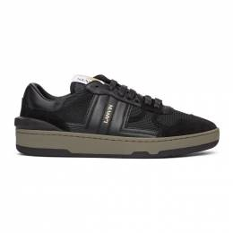 Lanvin Black Leather Clay Low Sneakers FM-SKDK00-NASH-A20