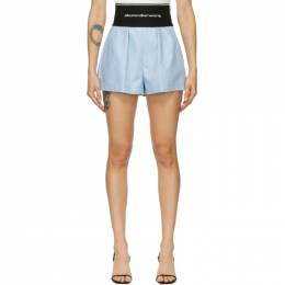 Alexander Wang Blue Logo Elastic Safari Shorts 1WC1204224