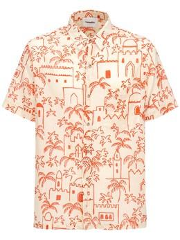 Хлопковая Рубашка С Принтом Nanushka 73IY4J002-TU9ST0NDTw2