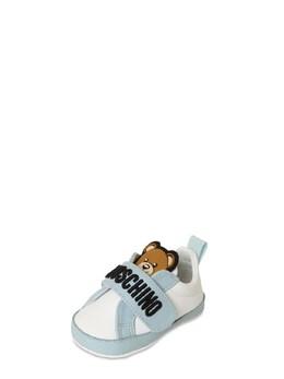 Кроссовки С Кожаными Ремешками Moschino 73ILXF003-VkFSIDI1