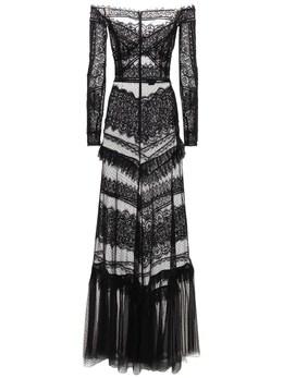 Длинное Платье Jatuarana С Кружевом Zuhair Murad 73ICCQ014-MTkwMDAw0