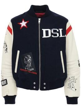 Куртка Из Шерсти И Кожи Diesel 73IBQT013-ODZW0