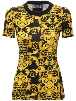 Футболка Из Хлопкового Стрейч Джерси Versace Jeans Couture 73IA88028-ODk50