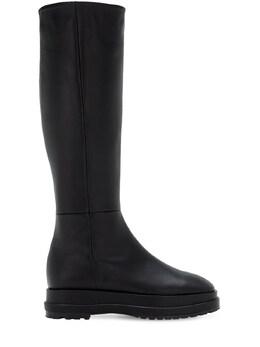Ботинки Из Кожи На Платформе 40мм Reike Nen 72IMUO004-QkxBQ0s1