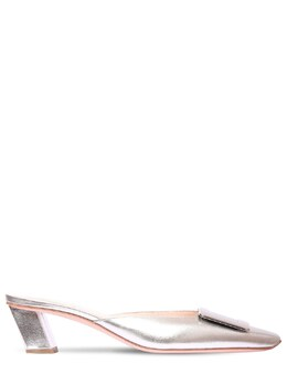 Мюли Из Кожи Металлик 45мм Roger Vivier 72IG0U016-QjIwMA2