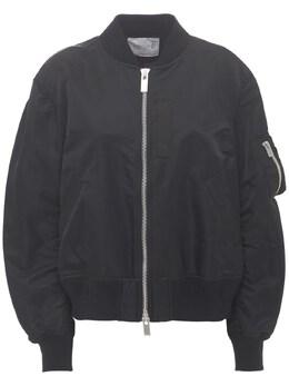 Куртка Бомбер Из Нейлона Sacai 73IXYE008-MDAx0