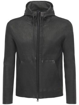 Куртка Из Кожи С Капюшоном Giorgio Brato 73I0AQ002-TkVSTw2