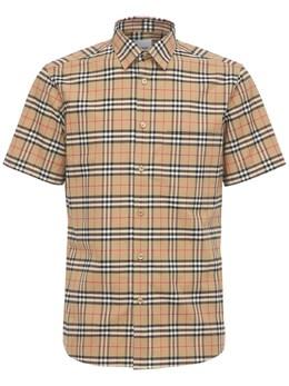 Рубашка Из Хлопка С Принтом Burberry 73IJSJ079-QTcwMjg1