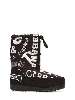 Сапоги Из Нейлона С Принтом Dolce&Gabbana 72I8YQ018-SDQyRVM1