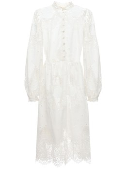 Платье Миди Из Хлопкового Кружева Temperley London 72I5BG004-V0hJVEU1