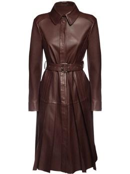 Платье Из Кожи С Поясом Sportmax 72I50Q005-MDAx0