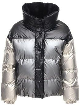 Двусторонняя Куртка На Пуху С Мехом Yves Salomon 72I0MA009-QjIzNTM1