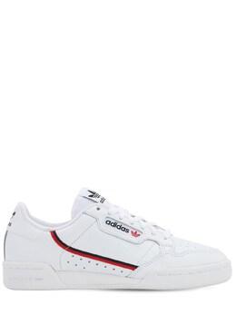 "Кожаные Кроссовки ""continental 80"" Adidas Originals 72I0KA013-RlVUVVJFIFdISVRF0"