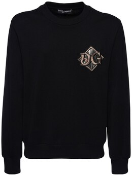 Свитшот Из Хлопка С Вышивкой Dolce&Gabbana 72I0B2022-TjAwMDA1