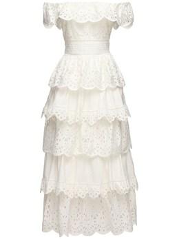 Cotton Lace Midi Dress Zuhair Murad 70IXMO002-MTExMDAx0