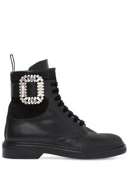 """Кожаные Ботинки """"viv Ranger"""" 25мм Roger Vivier 72IG0U025-Qjk5OQ2"""