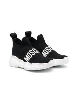 Moschino Kids высокие кроссовки с логотипом 67520