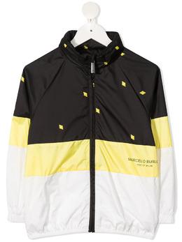 Marcelo Burlon Kids Of Milan куртка в стиле колор-блок с капюшоном 52365033S21