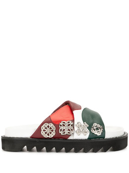 Toga Pulla сандалии в стиле колор-блок с заклепками FTGPW109390005AJ1093