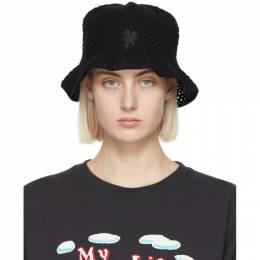 Marc Jacobs Black Knit Psychedelic Hat P1000104