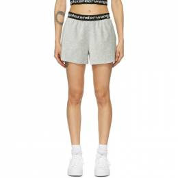 T By Alexander Wang Grey Corduroy Shorts 4CC1204025
