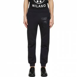 Moschino Navy Double Question Mark Lounge Pants 0321 2027